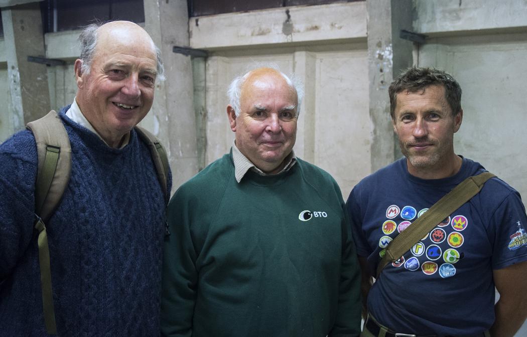 (L to R) John Bannister, Richard Denyer and Jeremy Gates